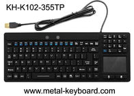 Wodoodporny interfejs USB Industrial PC Keyboard 108 klawiszy No Noise With Touchpad