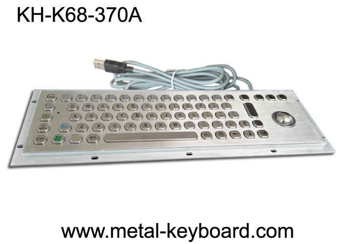Stainless Steel Industrial Keyboard with Trackball / IP65 Waterproof