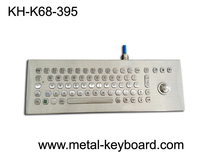 Desktop Vandal Proof Panel Mount Keyboard Stainless Steel For Industrial Control Device