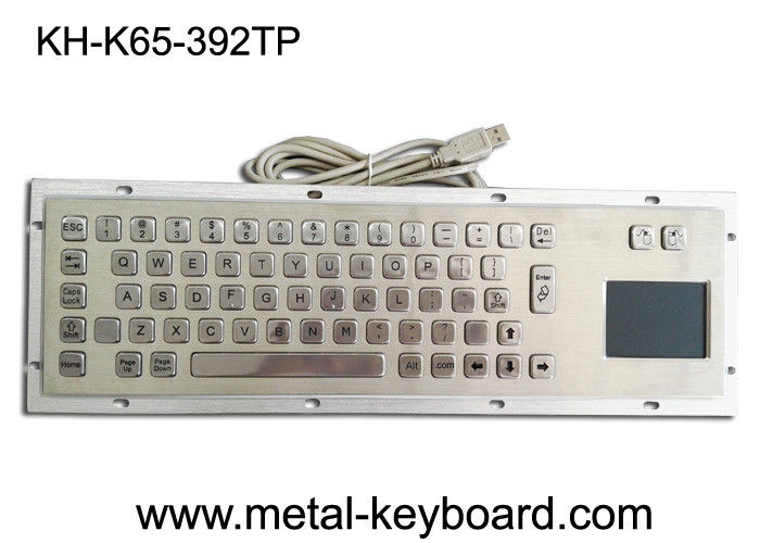 Stainless Steel Panel Mount Kiosk Laptop Mechanical Keyboard IP65 USB Connection Plug