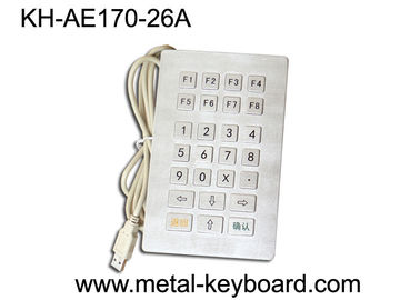 Chiny Water proof USB Industrial Metal Keypad with customized 26 Keys layout fabryka