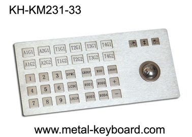 Chiny Ruggedized Metal Panel Mount Industrial Keyboard with Trackball fabryka