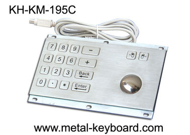 Chiny Rugged Stainless Steel Panel Mount Keyboard with Trackball IP65 Rate Dustproof fabryka